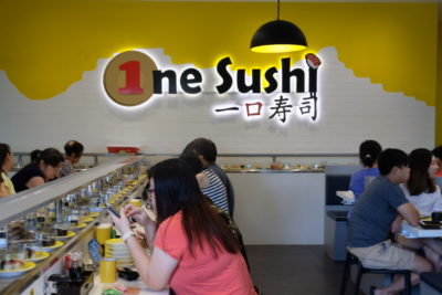 One Sushi Serving Sushi On Conveyor Belt At Yishun Town Square - Interior