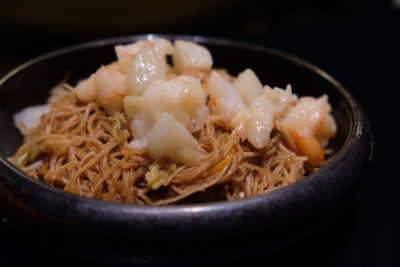 Yellow Pot At Six Senses Duxton Whipping Modern Chinese Dishes - Stir-fried Mee Sua ($18++)
