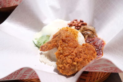 Village Nasi Lemak Bar At Circular Road Raise The Bar With Truffle Egg - Nasi Lemak with wings