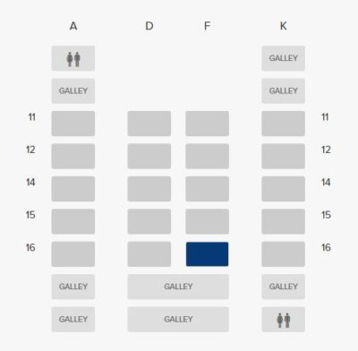 Business Class On A380 Singapore Airlines, SQ336 From Singapore To Paris - Seating Plan of Business Class A380 Front Section