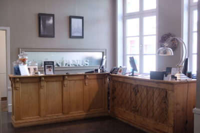 Hotel Montanus In Bruges, A Homely Feel Hotel With Warm And Friendly Hotel Crew - Check-in and out counter
