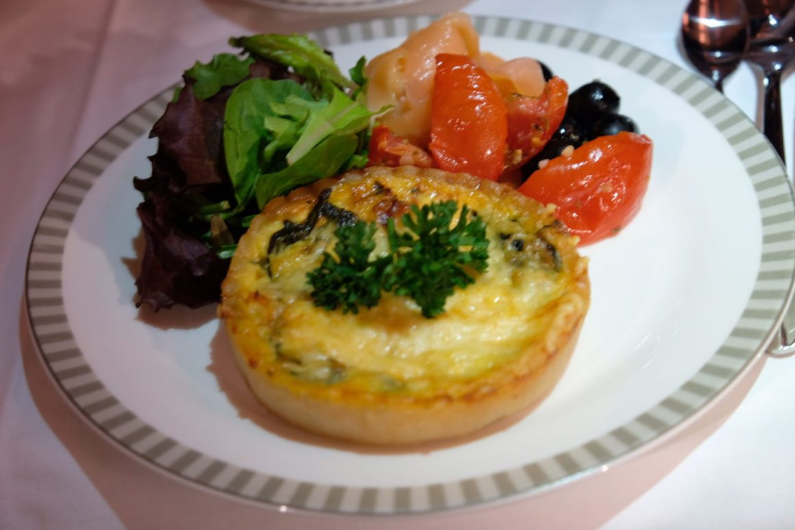 Singapore Airlines Business Class Book A Cook - Spinach and Goat Cheese Quiche