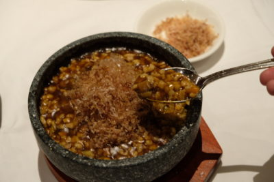 Tien Court Offering 53% Discount For Dim Sum At Copthorne Kings - Scoop of Braised Rice with Diced Chicken with Bonito Flakes Served in Stone Pot