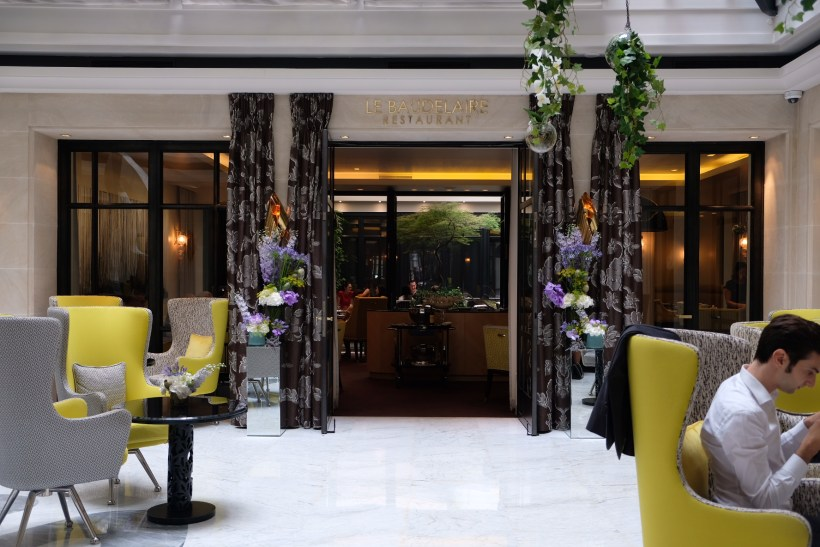 Le Baudelaire, A One Michelin Star French Restaurant Near The Louvre - Entrance