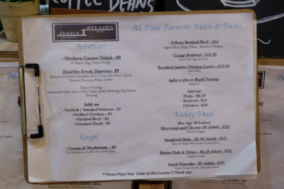 Daily Affairs, A Hidden Cafe At Cairnhill Community Club - Food Menu