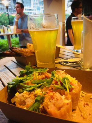 Tall Tale Pale Ale, First Exclusive Hotel Craft Beer Available In Bottle Now At Four Points Riverside Singapore - Pairing Tall Tale Pale Ale with local food