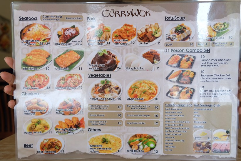 Curry Wok At Coronation Road, A Humble Restaurant Serving Food With Lots Of Love - Ala Carte Menu