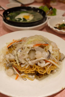 Polo Restaurant 保罗酒楼 Shanghainese Restaurant At Xuhui - Crispy Noodle with Seafood 海鲜两面黄 (CNY 42)