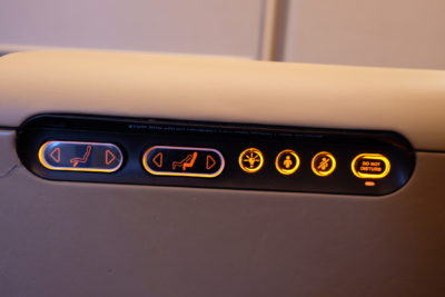 Singapore To Mumbai On SQ424 Business Class, Airbus A380-800 - Buttons