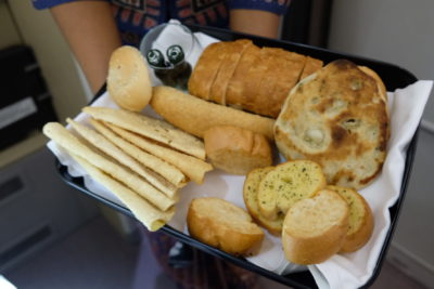Singapore To Mumbai On SQ424 Business Class, Airbus A380-800 - Bread Selection