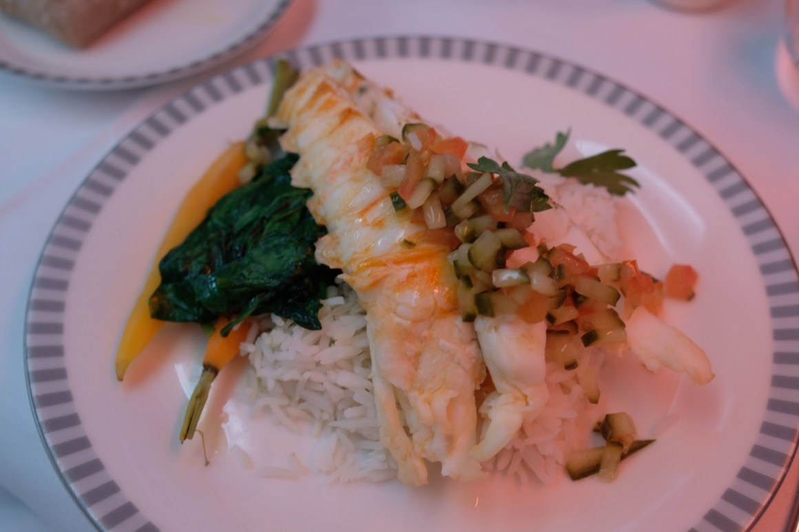 Singapore Airlines Business Class Book A Cook - Spiny Lobster with Pilaf Rice