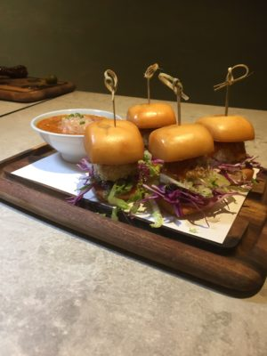 Fantastic Dining Experiences of Blue Lotus Restaurants Singapore - Crab Ball Mini Burgers with Signature Chilli Pomelo Sauce