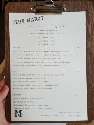 Clement Marot In Lille, Another Restaurant In The Michelin Guide - Set Menu