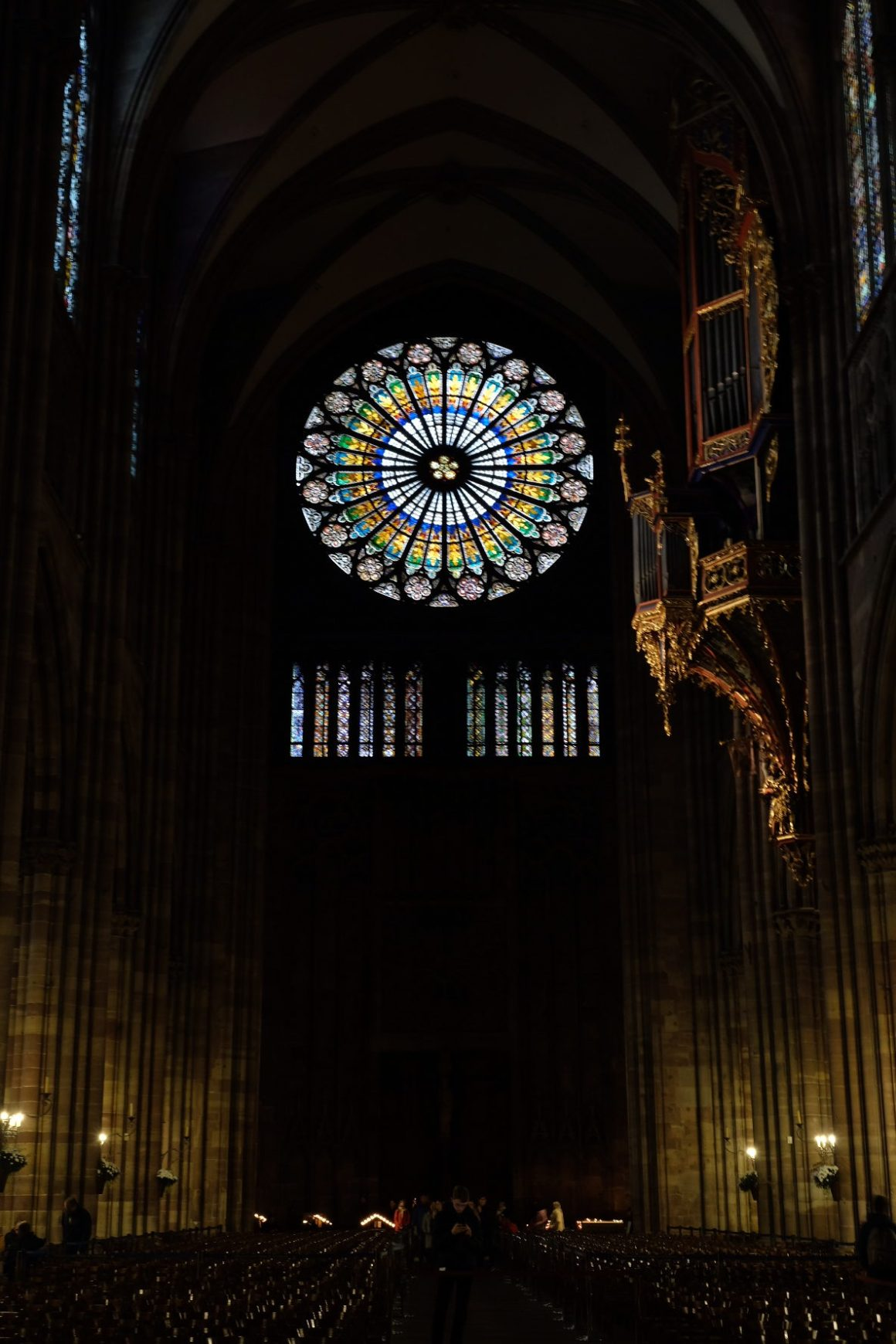 Strasbourg Travel, Must See & Do, Must Eat in 28 Hours - Stained Glass and Pipe Organ in Cathédrale Notre Dame de Strasbourg
