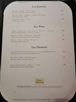 L'Hermitage Gantois Restaurant In A Hotel With Spa In Michellin Guide Lille – Menu