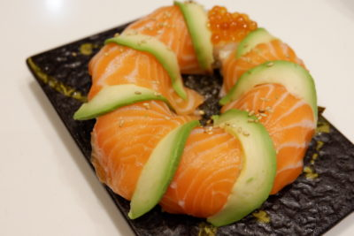 One Sushi Christmas Exclusives On The Menu - Salmon Avocado Sushi Large ($12.90)
