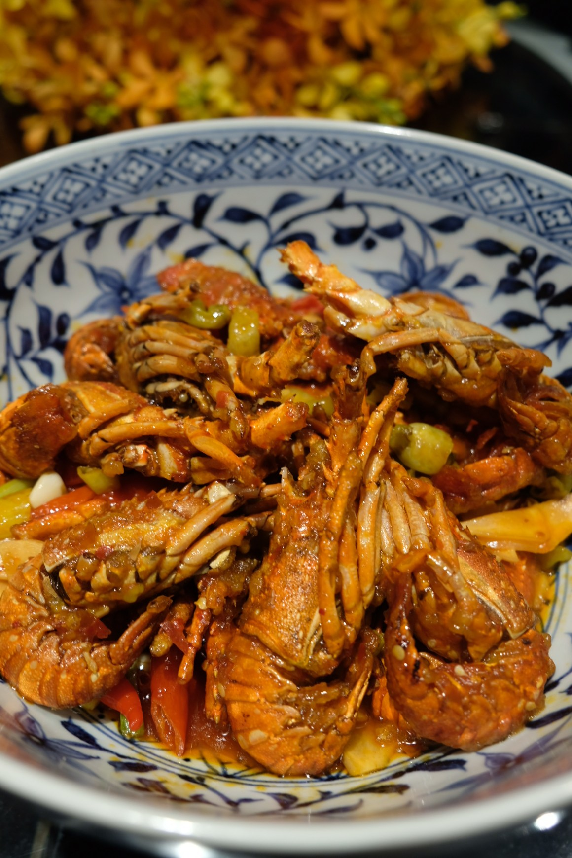 A Tale of Twin Baby Lobster At Si Chuan Dou Hua Restaurant @ PARKROYAL on Beach Road - Stir-fried Baby Lobster with Preserved Chilli and Chilli Padi
