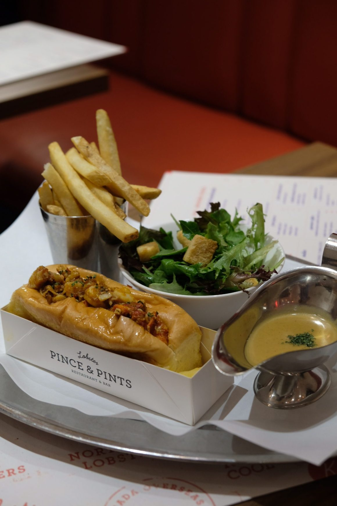 Brand New Crab Menu By Pince & Pints - Nonya Chilli Lobster Roll ($18)