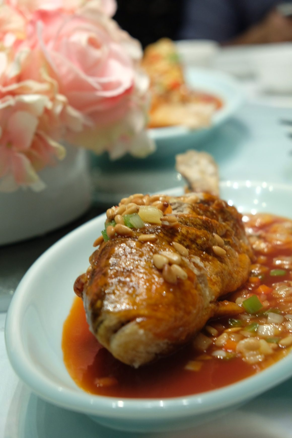 Parents' Day Promotion At Crystal Jade - Deep-fried yellow croaker with sweet vinegar sauce and pine nuts ($29.80)