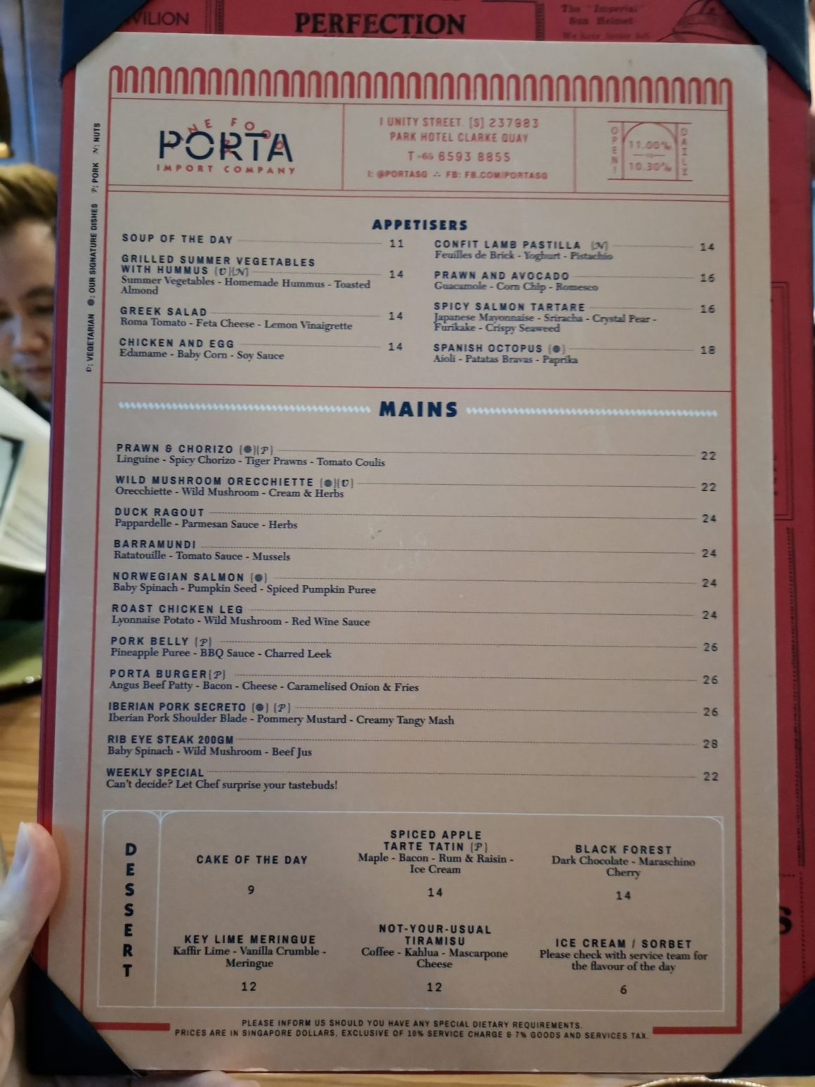 Porta Revamped Ala Carte Menu - Revamped Ala Carte Menu