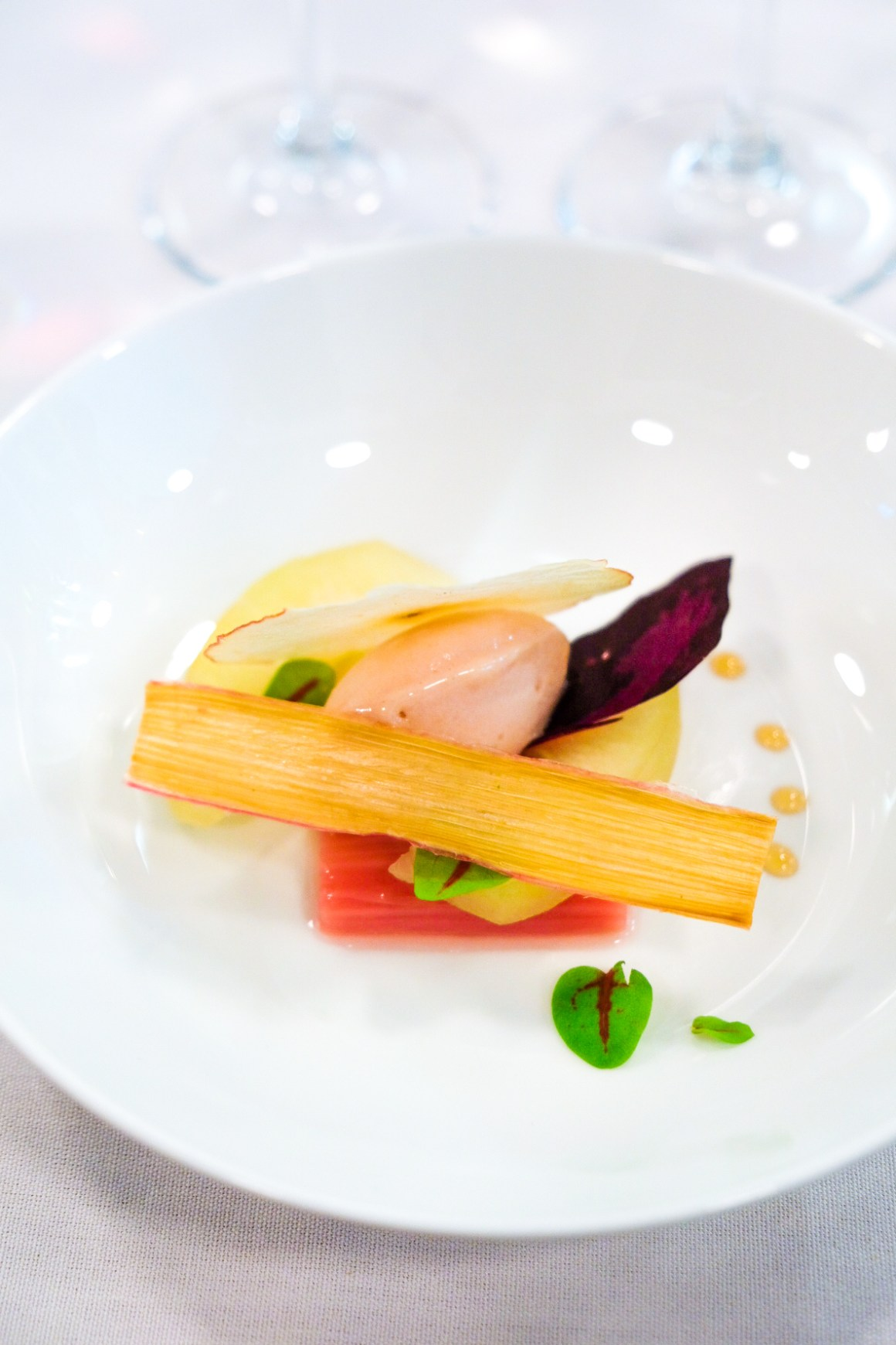 Restaurant Jag Celebrate Earth Day With Spring Produce - Reine des Pres, Pink Lady Apple, Rhubarbe
