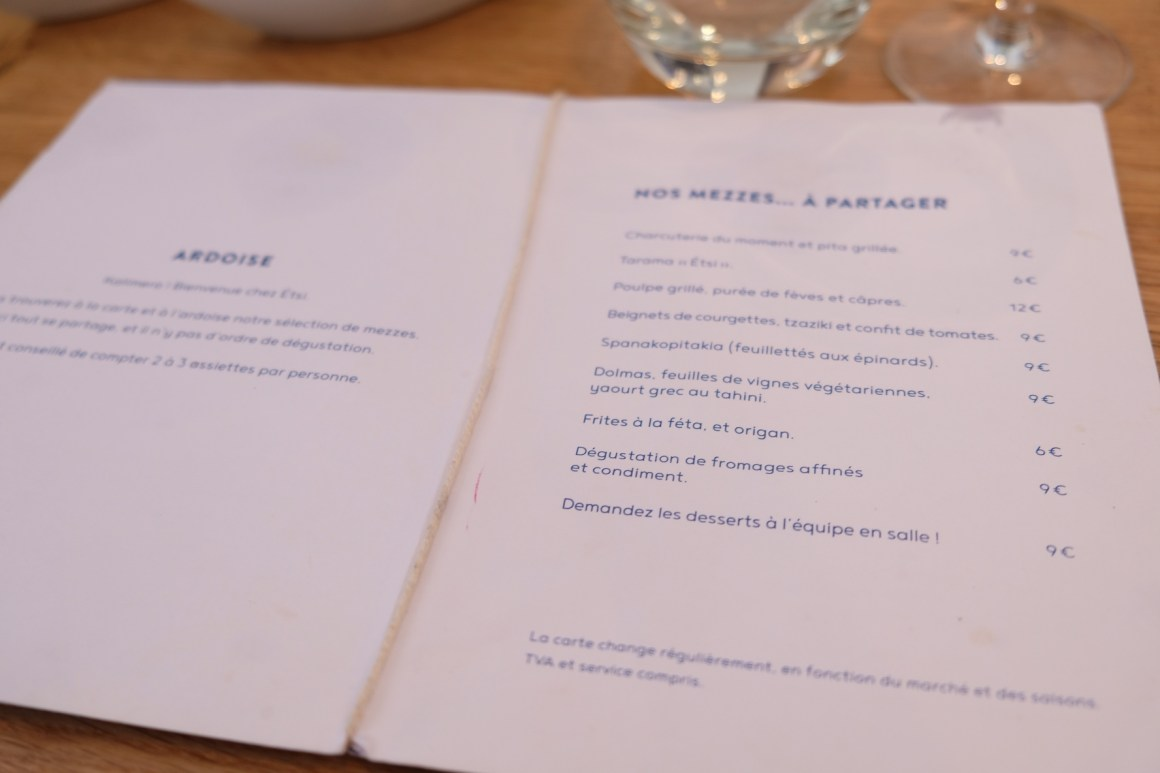 Esti Restaurant and Bar, A Communal Restaurant - Menu