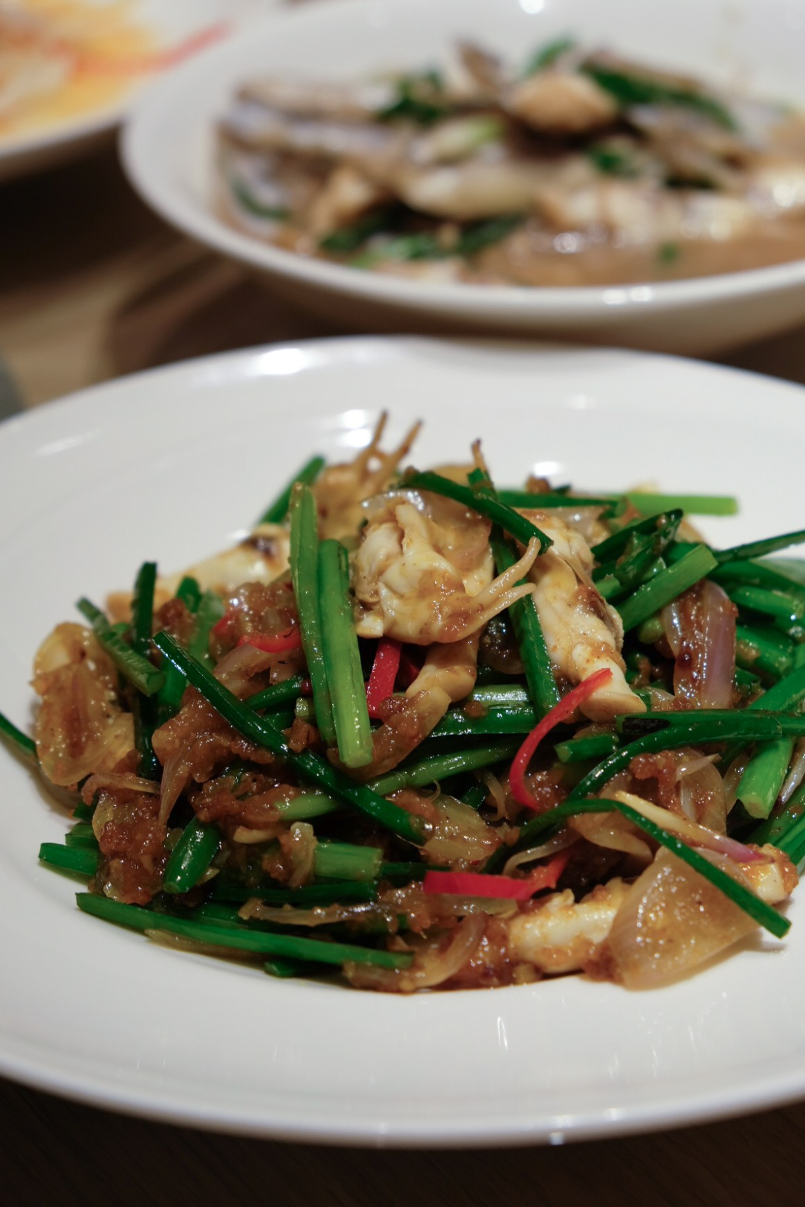 Stir-fried Sambal Chives with DUO TOU Clam 叁芭爆蛏肉