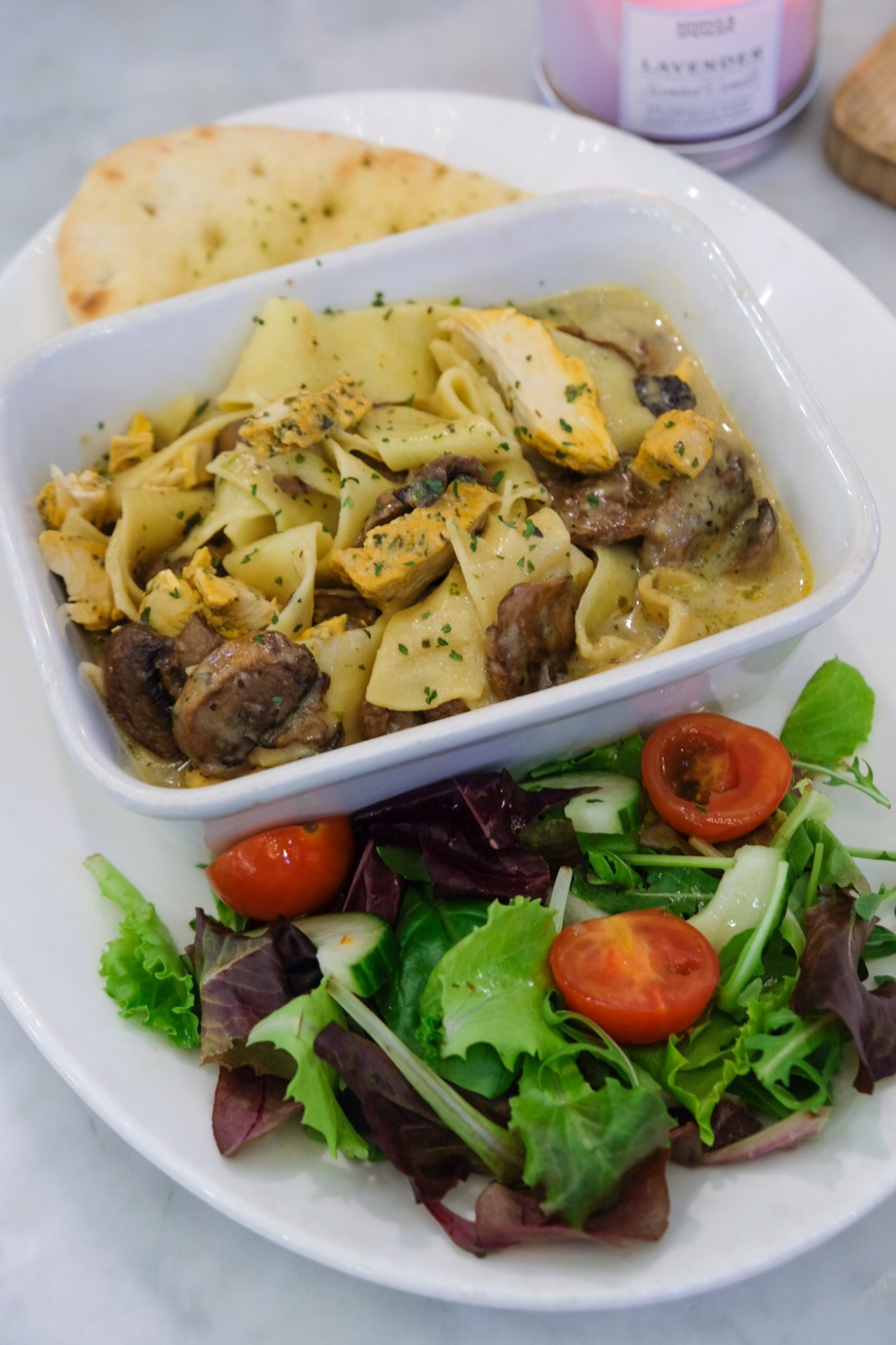 M&S Cafe New Menu Items - Chicken & Mushroom Pappardelle ($18)