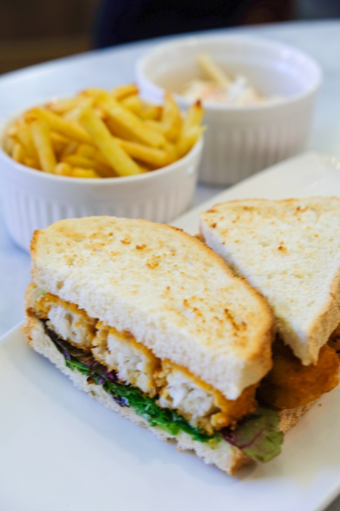 M&S Cafe New Menu Items - Fish Finger Sandwich with French Fries ($16)