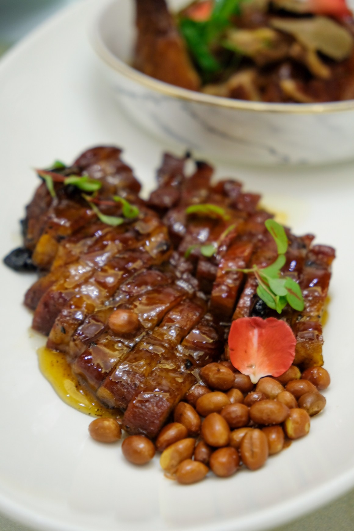 Crystal Jade Palace Brand New Menu And Look - Roasted honey BBQ Iberico pork