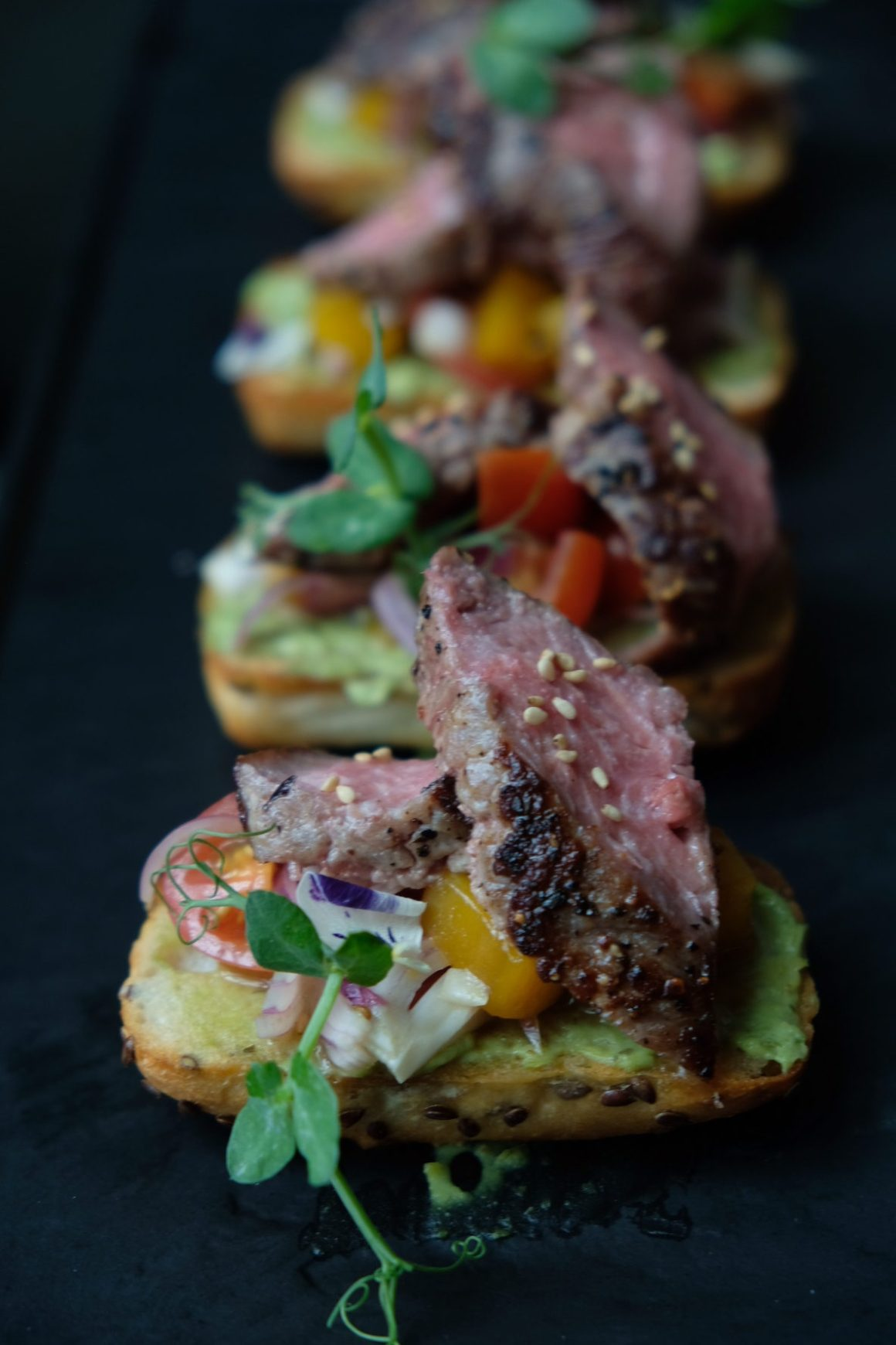 Supply & Demand Orchardgateway New Menu - Beef Tagliata  Crostini ($22)