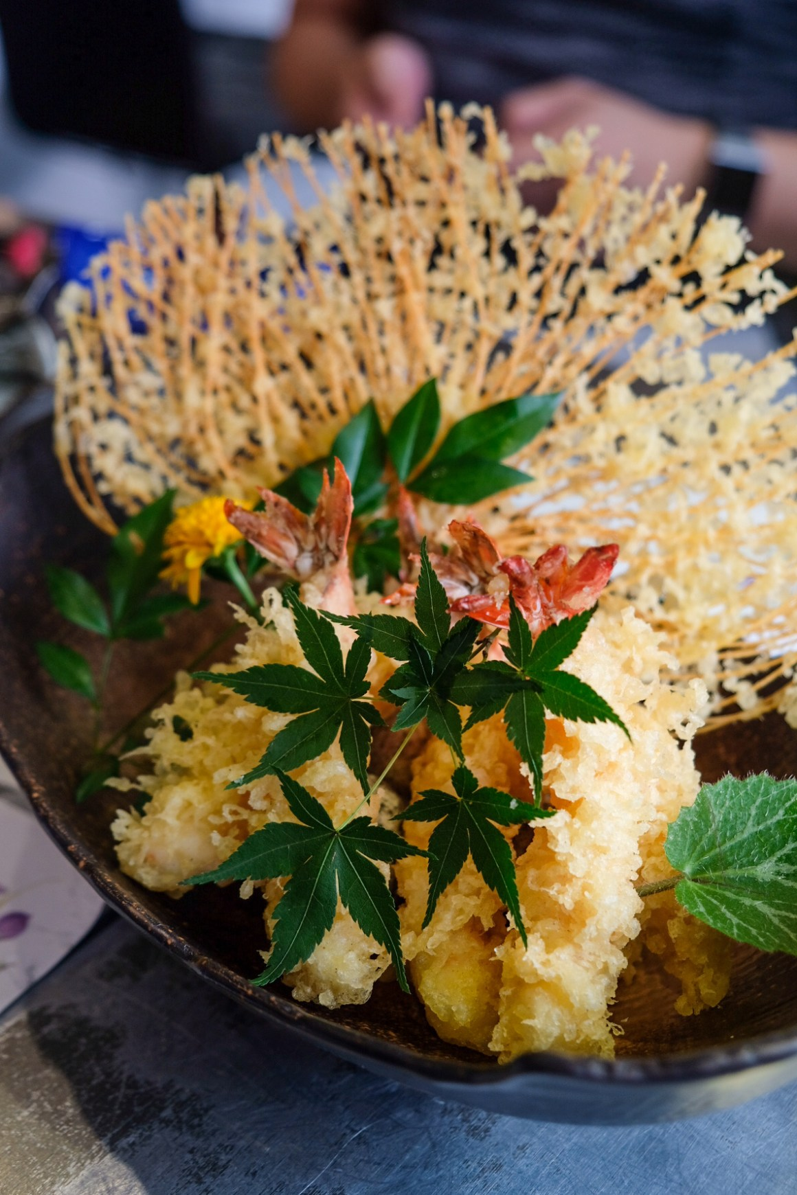 Sushi Airways, Dine In DC-3 Inspired Ambience - Ebi Tempura $33 (seasonal menu)