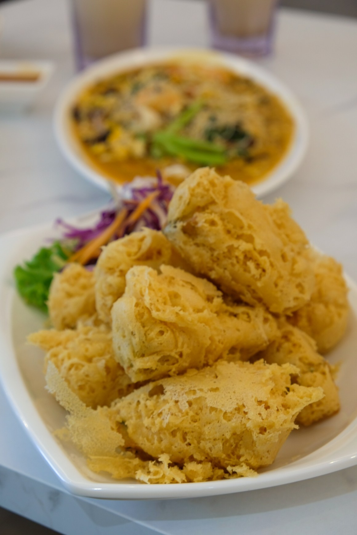 White Restaurant @ Suntec Serving Outlet Exclusive Mala Bee Hoon - Home Made Fried Beancurd ($12.80 small)