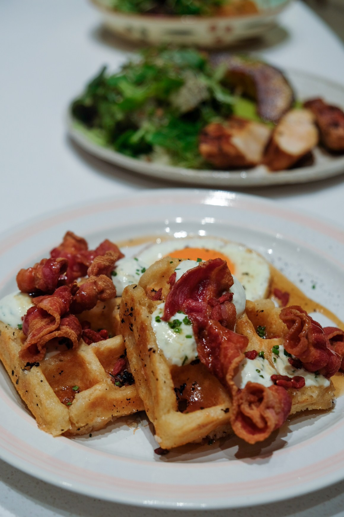 Tiong Bahru Bakery Diner New Menu By Chef Paul Albert - 100% Sourdough Waffle, Savoury ($23)