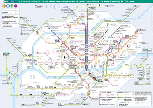 Liniennetzplan während der zusätzlichen Einschränkungen an Pfingsten. © traffiQ