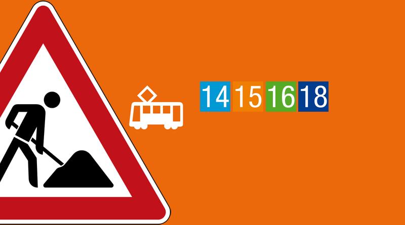 26.03.2017 » Tram 14, 15, 16, 18, Ebbel-Ex » Betriebsunterbrechung wegen Reparaturarbeiten eines Wasserrohrbruchs