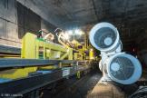 Bauzug und Lufgebläse im Tunnel. Bild: © RMV / Jana Kay