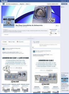 Siguenos en facebook, Lavanderías de Autoservicio NAI-CLEAN