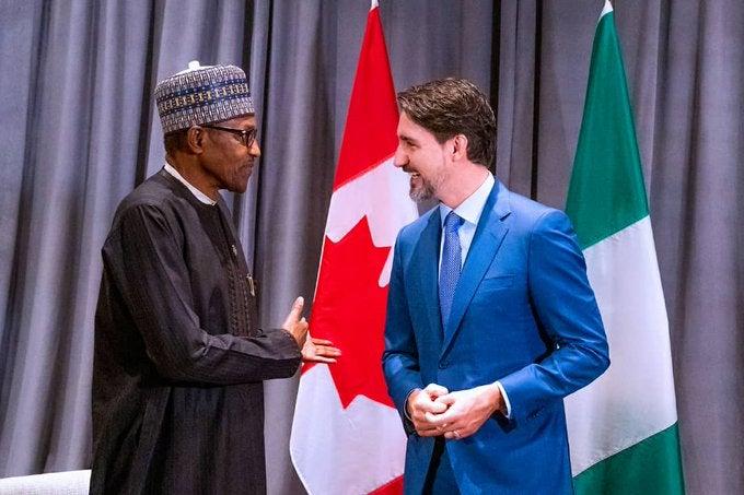Nigeria's Buhari meets Canada's PM Trudeau to Strengthen Economic Ties