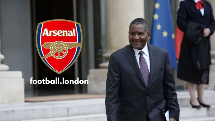 Arsenal fans issue takeover message to Aliko Dangote