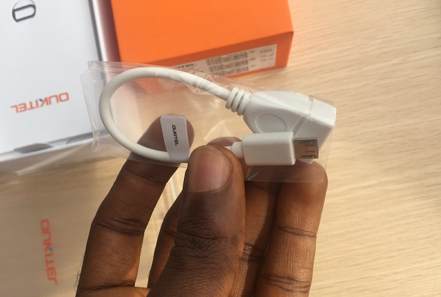 oukitel k6000 plus reverse charge cord