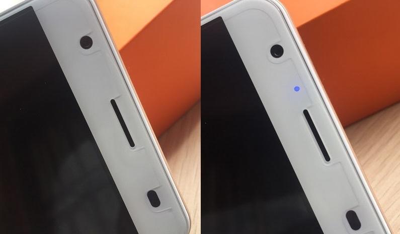 oukitel k6000 plus front top notification light