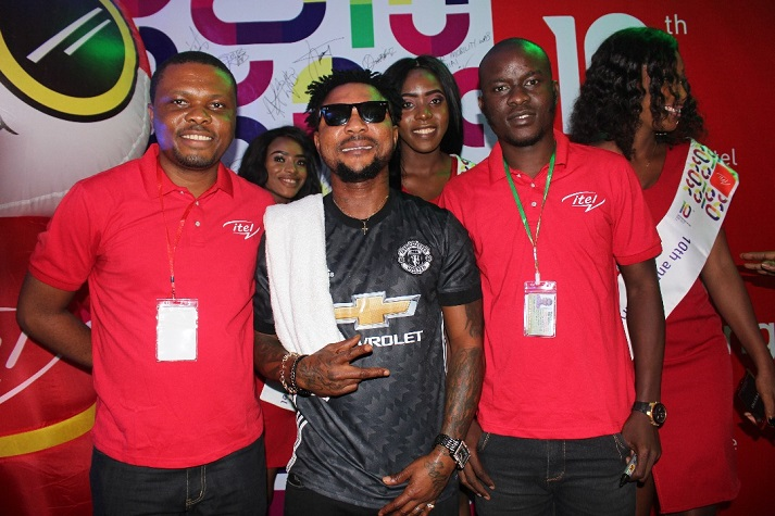 oritse femi at the itel 10th year anniversary