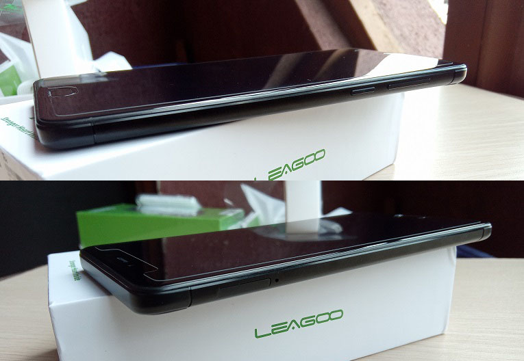 leagoo t5c left and right borders