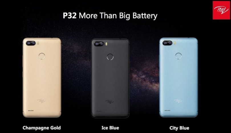 itel p32 colors