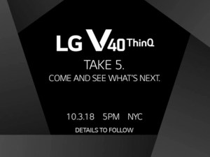 LG Announces October 3 Launch Event For The V40, Hints At Five Cameras