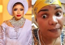 Bobrisky writes Iyabo Ojo to stay humble after she tackled entitled fans who always ask her for money on Instagram