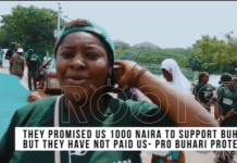 """""""They promised us N1000""""- #IstandforBuhari supporter claims (video)"""