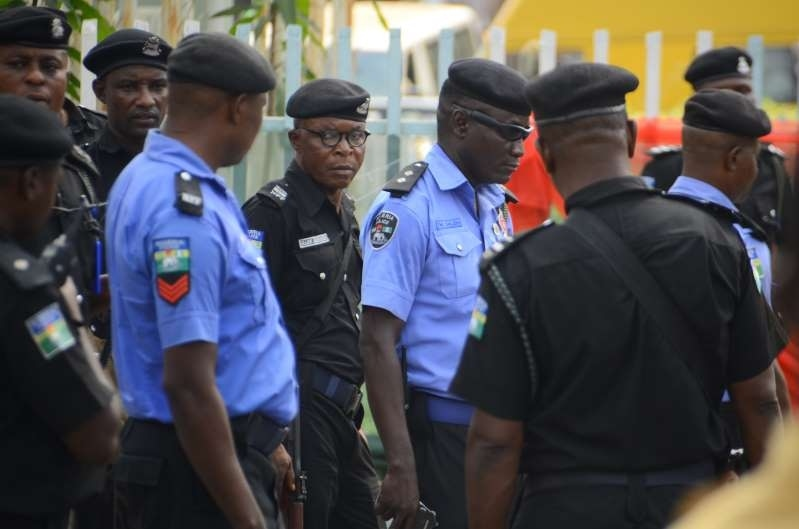 Men of the Nigerian Police force