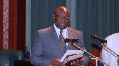 INEC National Commissioner and Chairman, Festus Okoye